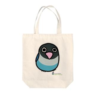 LOVEBIRD BOTAN 前向き Tote bags