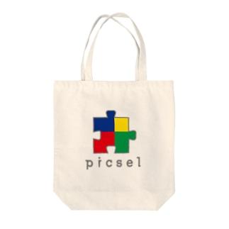 picsel Tote bags