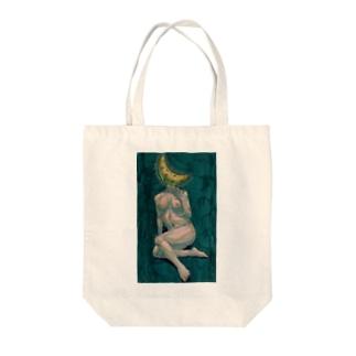 三日月の婀娜 Tote bags