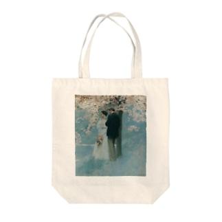 ハワード・パイル 《春・桜の木の下で》 Tote bags