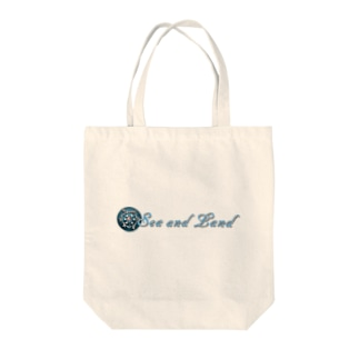 Sea and Land(テキスト横) Tote bags