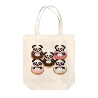 ドーナツパンダ☆ Tote bags