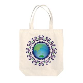 エコロジー☆パンダちゃん Tote bags