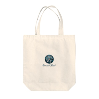 Sea and Land(テキスト下) Tote bags