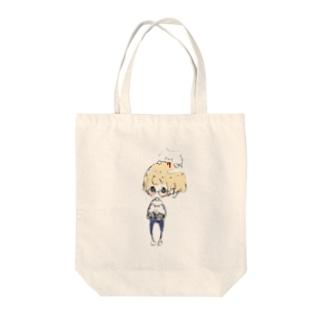メガネくんと熊吉 Tote bags