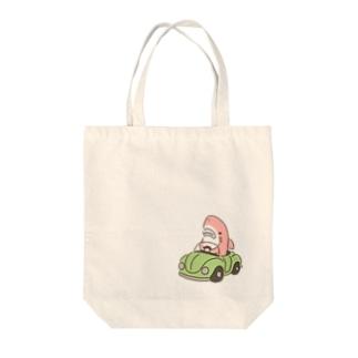 四月限定!!運転を覚えたサメ2021-4 Tote bags