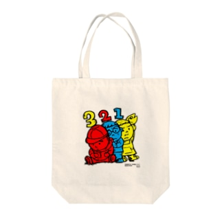 3 Bros. Colored (三兄弟。3色。) Tote bags