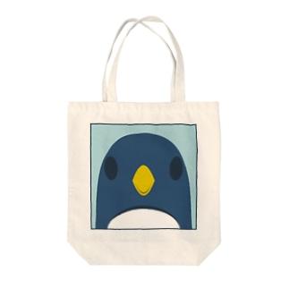 正面ペンギンバッグ Tote bags