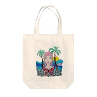 夏 女の子 Tote bags