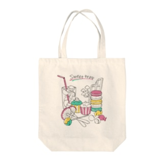 Sweet trap Tote bags