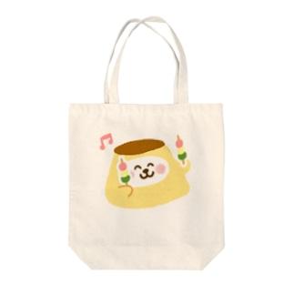 お団子を食べるプリン Tote bags
