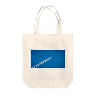 飛行機雲 Aerial cloud Tote bags