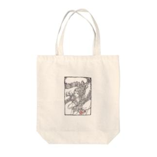 龍と女の子 Tote bags