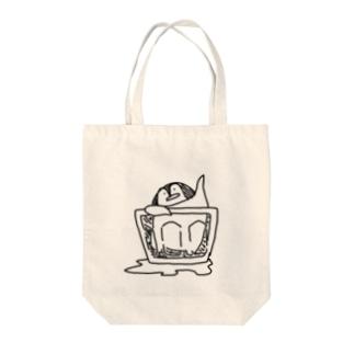 グラスペンギン Tote bags