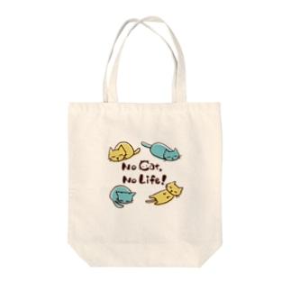 No cat, No Life! Tote bags