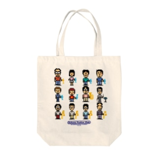 SFC 8bit character Tote bags