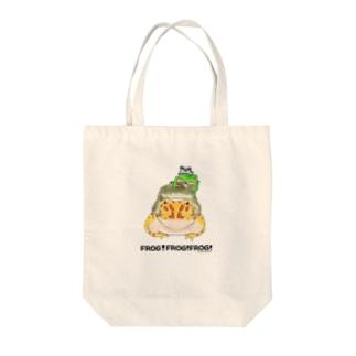 カエルのピラミッド Tote bags
