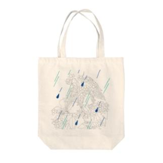 花×雨(イラストver.) Tote bags