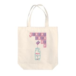 いちごミルクチョコレート-パステル Tote bags