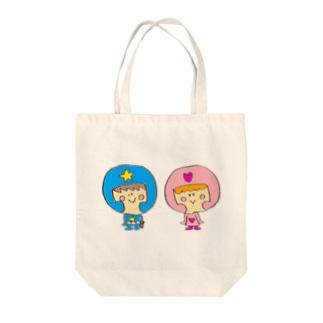ふたごの地球防衛隊 Tote bags