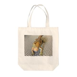 フトアゴヒゲトカゲのココアさん Tote bags