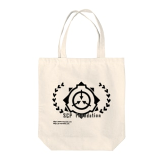 SCP財団ロゴグッズ-月桂樹黒[SCP Foundation] Tote bags