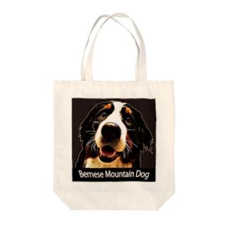 バーニーズマウンテンドッグ/Bernese Mountain Dog/ブラック/Black/002-02 トートバッグ Tote bags