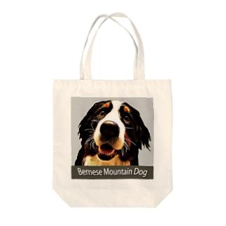 バーニーズマウンテンドッグ/Bernese Mountain Dog/グレー/Gray/002-03 トートバッグ Tote bags