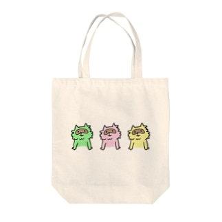 三色たぬき Tote bags