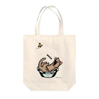あくび猫さん Tote bags