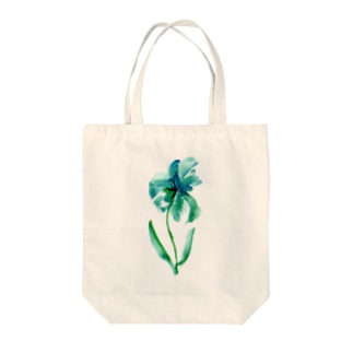 emerald flower Tote bags