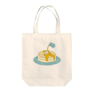 ねこホットケーキ Tote bags
