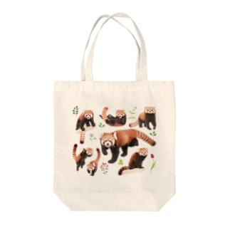 レッサーパンダ2021A Tote bags