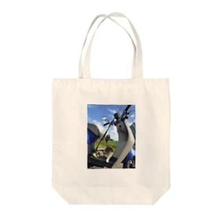 原チャリ釣りにゃんこ Tote bags