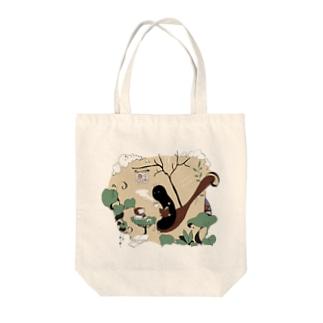 カフェ本の虫 Tote bags
