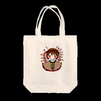 くらげのインディアンのトートバッグ Tote bags