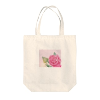 バラ(油彩) Tote bags