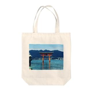 厳島神社 Tote bags