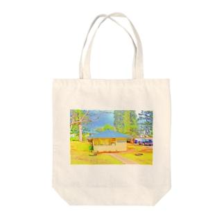 ラナイ島にある小さく可愛いBank of Hawaii(イラスト) Tote bags