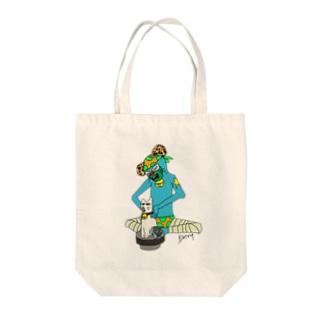 ネコスイカマニア Tote bags