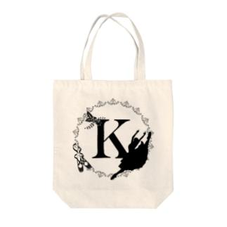 バレエシルエット◆K-1/モノクロ◆ Tote bags