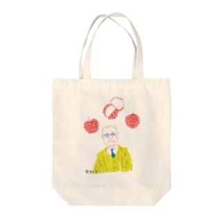 【果物と文人】内田百閒とライチ トートバッグ