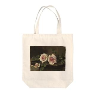 フランス・モルテルマン《Prince-de-Bulgarie 2つのバラ》 Tote Bag