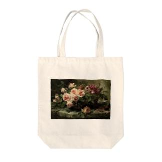 フランス・モルテルマン《バスケットのピンクの薔薇》 Tote Bag