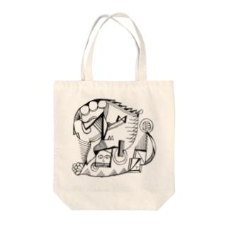 カオのあるもようA Tote bags
