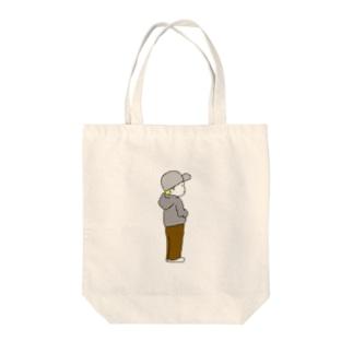 キャップくん Tote bags