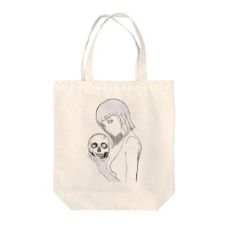 髑髏少女 Tote bags