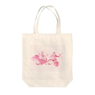 制服ちゃんトリプル Tote bags