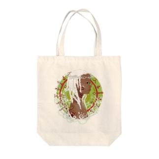 アフリカの少女B Tote bags