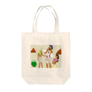 壁画に描かれたペニッサーファントム Tote bags